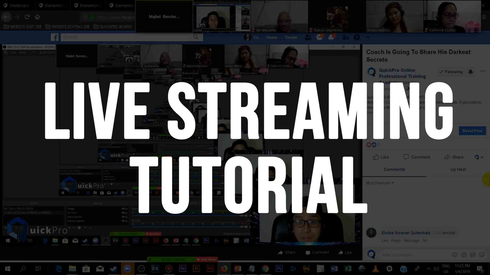 live stream tutorial