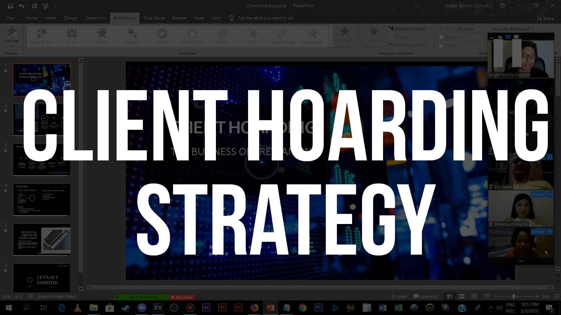 CLIENT HOARDING STRATEGY