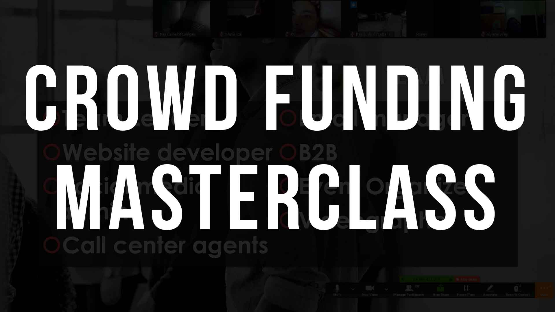 CROWD FUNDING MASTERCLASS