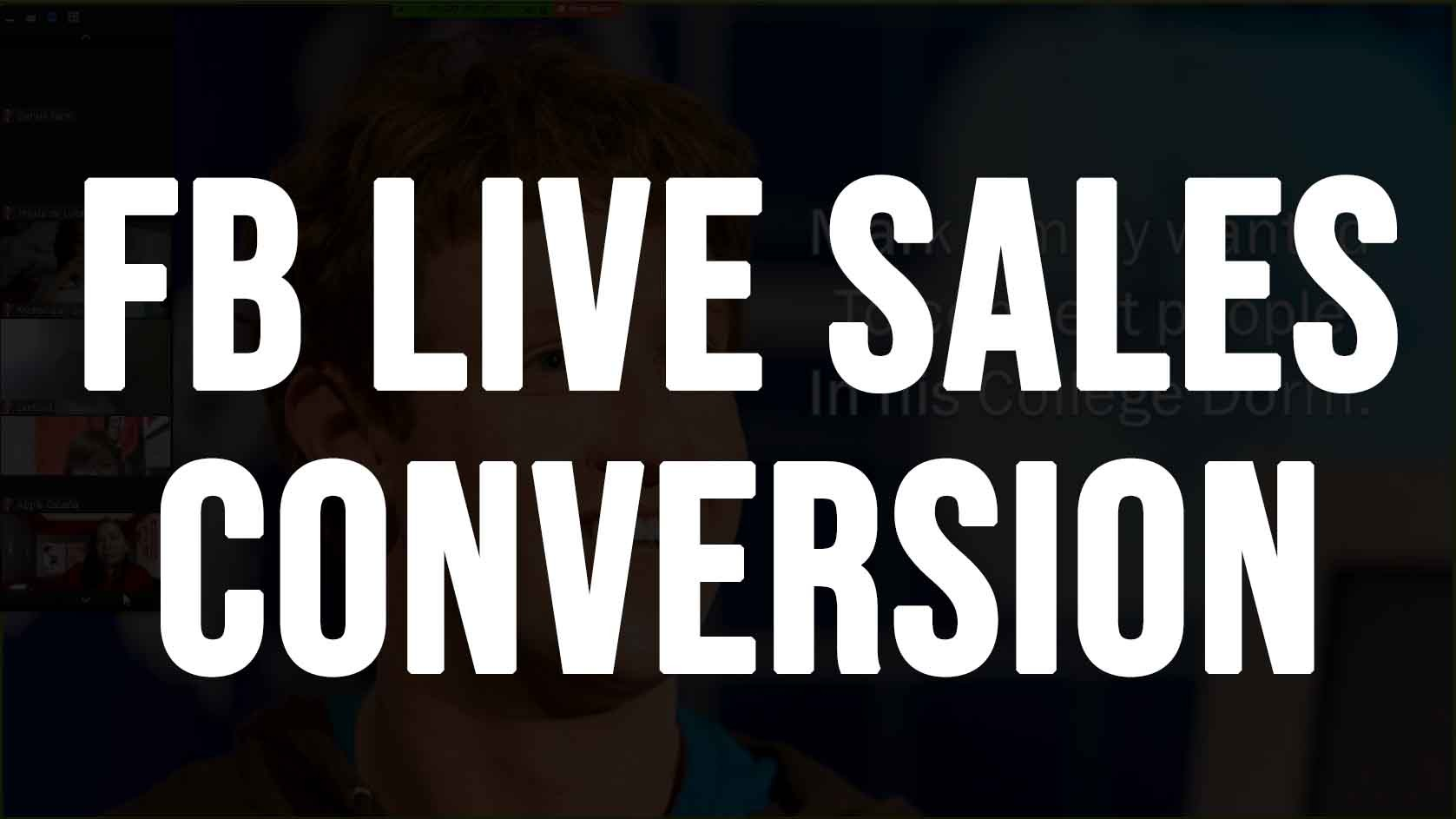 FACEBOOK SALES CONVERSION